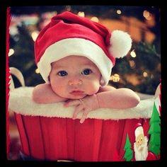 christmas time baby photography