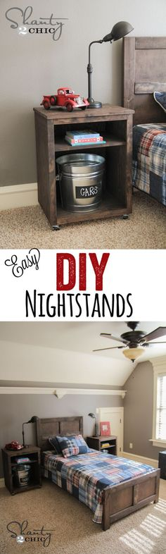 DIY Nightstand DIY Nightstand,Shanty's Tutorials Cute and Easy DIY Nightstands… LOVE these! home decor house projects side table wood projects stand ideas Bedroom Diy, Diy Nightstand, Furniture Diy, Diy Decor, Diy Home Decor, Home Diy, Furniture Projects, Wood Diy, Home Decor