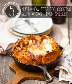 5 Must-Know Tips for Cooking with a Cast Iron Skillet | Homesteading Recipes, Homestead Tips and Tricks | Pioneer Settler
