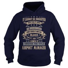 Airport Manager T Shirts, Hoodies. Check price ==► https://www.sunfrog.com/LifeStyle/Airport-Manager-92254332-Navy-Blue-Hoodie.html?41382 $39