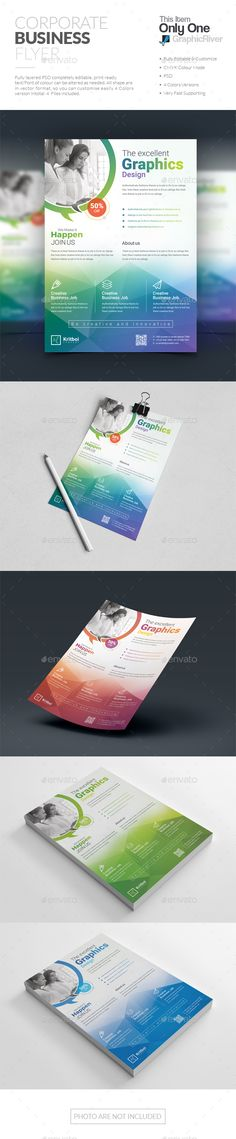 Flyer — Photoshop PSD #colorful #stationery
