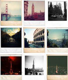 Polaroid places.