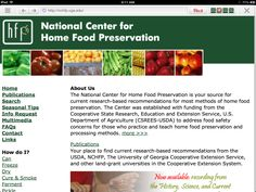 The National Center for Home Food Preservation