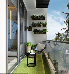 Apartment Balcony Garden, Small Balcony Garden, Small Balcony Design, Small Balcony Decor, Small Terrace, Apartment Balcony Decorating, Apartment Balconies, Terrace Design, Narrow Balcony