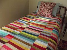 Stripy leftovers blanket
