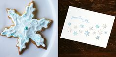 These cookies were made from scratch and painted by hand = handmade holiday cookie cards!