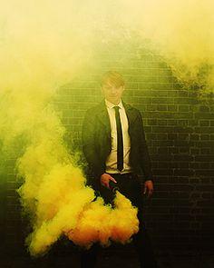 smoke from Rupert Grint