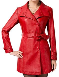 $39.20 VonFon Womens Slim Thin Long Length Casual Leather winderbreaker Leather Jacket Red M Vonfon http://www.amazon.com/dp/B00O0KNH3S/ref=cm_sw_r_pi_dp_RPyrub1JR8F9S