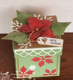 Deck the Tree explosion box by Cook22 - Cards and Paper Crafts at Splitcoaststampers