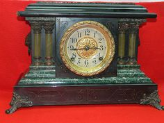 Vintage SETH THOMAS Mantle Clock- my dad restored a couple of clocks like this. I think he donated one to an opera house.