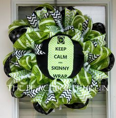 It Works Keep Calm & Skinny Wrap Lime Green by ThePeacefulPenguin, $40.00