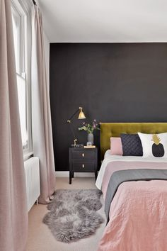 A Victorian terrace gets new life thanks to an injection of light and colour. From turquoise painted doors to gallery walls, this is one upbeat home. Home Decor Bedroom, Diy Home Decor, Bedroom Ideas, Bedroom Designs, Glam Bedroom, Pretty Bedroom, Master Bedroom, King Bedroom, Bedroom Apartment