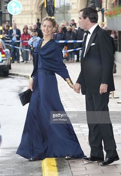 Prince Nikolaos Of Greece And Fiance Tatiana Blatnik Leave The Grand Hotel, Stockholm To Attend A Government Dinner, At The Eric Ericson Hall, Skeppsholmen, Stockholm As Part Of The Pre Wedding Celebrations For Crown Princess Victoria Of Sweden To <a gi-track='captionPersonalityLinkClicked' href='/galleries/personality/662631' ng-click='$event.stopPropagation()'>Daniel Westling</a>.