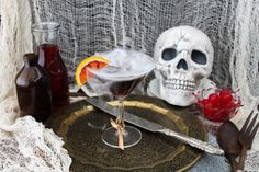 Witches Brew: 2 Tbsp Blavod black vodka 1 Tbsp peach brandy 1/4 cup cranberry apple juice a splash of fresh lime juice slice of blood orange, for garnish ice