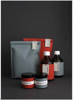 simple packaging with bottles & jars 2 color