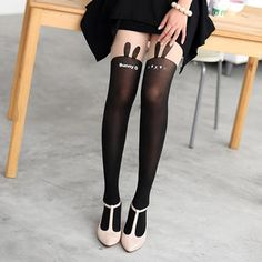 Buy '59 Seconds – Rabbit Print Two-Tone Tights' with Free International Shipping at YesStyle.com. Browse and shop for thousands of Asian fashion items from Hong Kong and more!