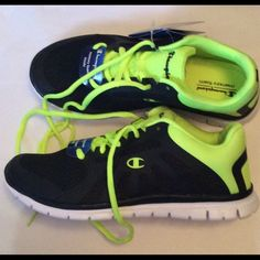 f0d065e7527 Champion Woman s Sneakers Black Lime Size 9.5 NIB NWT