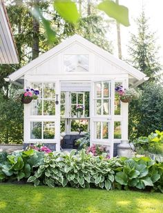 Greenhouse from old windows – beautiful!