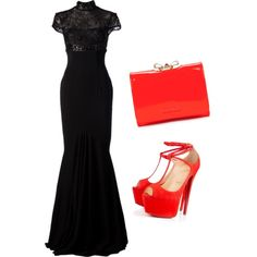 A fashion look from February 2015 featuring Alex Perry gowns, Christian Louboutin pumps and Ted Baker wallets. Browse and shop related looks.