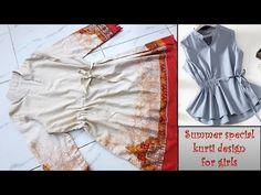 Girls Kurti, Tandoori Masala, White Shorts, Ruffle Blouse, Stylish, Summer, Animals, Beautiful, Tops