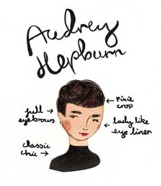 audrey hepburn illustrated by emily block