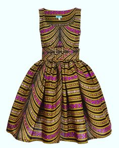 Image of Marble Multi Empire Line Dress outfits African Print Dresses, African Print Fashion, African Wear, African Attire, African Women, African Dress, Fashion Prints, Fashion Design, African Shop