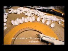 DIY: Espelho de Colheres Descartáveis #2 | Decor | Presente Original- Faça você Mesma - YouTube