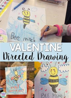 Bee Mine, Valentine! Your kids will love this super fun, super simple Valentine's Day directed drawing! Perfect for Valentine's Day!