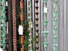 Rain Chain Ideas 21 - Quilling Deco Home Trends How To Make A Rain Chain, Rain Chain Diy, Rain Chains, Hydroponic Gardening, Container Gardening, Hydroponics, Small Backyard Gardens, Small Backyards, Backyard Beekeeping