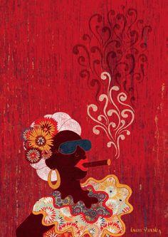 Laura Varsky - Graphic design & Illustration vive en Buenos Aires, diseña, dibuja textos e ilustra. Dentro de su iconografía pululan los gatos, las erres torcidas, las flores y la grafía de los olores que desprenden; además de los tapices que se antojan tenerlos en algún muro de casa.    Entrevista en Revista PICNIC edición #48 - Viajeros - por Iván W. Jiménez.    http://www.lauravarsky.com.ar/