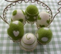 Felted Egg Display by weaverbirddesigns on Etsy, $65.00