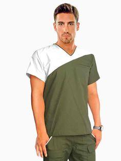 Scrubs Uniform, Men In Uniform, Gym Shirts, Casual Shirts, Stylish Scrubs, Nurse Costume, Medical Uniforms, Diy Couture, Gym Tank Tops