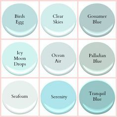 Ocean Air Benjamin Moore Seafoam Coastal Paint colors by Stacey Boldt