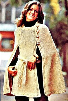 Hipster Knit Cape Pattern by TheCraftedDaisy on Etsy, $3.20