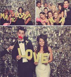 Awesome photo booth props... Real Wedding: Melissa + AJ's Rustic Elegant Vineyard Wedding.
