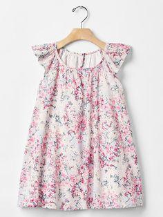 Cherry blossom flutter dress