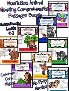 Save $6.00 with this BUNDLE!!! 166 pages of reading comprehension passages and questions!!! High interest non-fiction (animals) with higher level thinking questions, created for guided reading or independent reinforcement of skills! I included a LARGE PREVIEW so you can see what you are getting!