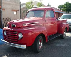 old red ford truck  Love it, I  had a 49 f-3 flatbed now I have a 66 f-1 stepside! Love them both!