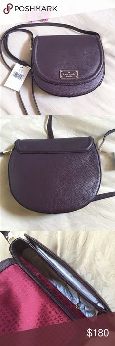 Kate Spade crossbody! NWT!! Color is a dark purple and material is soft leather! New listing of same item kate spade Bags Crossbody Bags