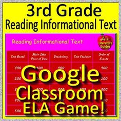 2nd grade nwea map test prep reading literature and vocabulary game 3rd grade test prep google classroom game reading informational text ela fandeluxe Gallery