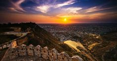 Nahargarh Fort is one of its best Jaipur Attractions with Bhati Tours. Beautiful sunset view from this fort attracts the visitors most.