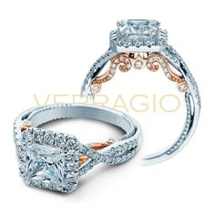 Verragio Insignia INS-7086PTT Halo Pave Engagement Ring