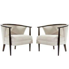 Scandinavian Modern Barrel Lounge Chairs 1 东南亚 中式 白 木 Sofa Furniture, Sofa Chair, Modern Furniture, Furniture Design, Chair Cushions, Futuristic Furniture, Bedroom Chair, Plywood Furniture, Swivel Chair