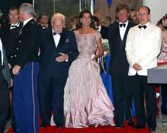 PRINCE RAINIER in Celebrity Arrivals at the Red Cross Ball in Monaco