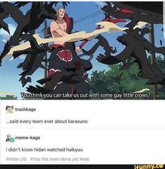 Hidan watches Haikyuu ... apparently  /// Haikyuu Karasuno