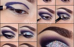 Sparkly Purple Makeup