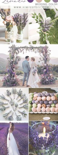 Top 10 Green Wedding Color Ideas For 2019 Trends You'll Love - lavender wedding purple wedding color palette spring bridal shoot - Lavender Wedding Colors, Spring Wedding Colors, Spring Colors, Summer Wedding, Lavender Wedding Cakes, Purple Wedding Themes, Lavender Weddings, Wedding Colors For Spring, Spring Wedding Cakes