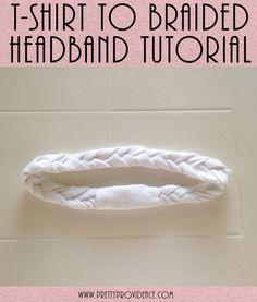 T-Shirt to 5 Strand Braided Headband Tutorial. {www.prettyprovidence.com}