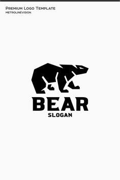 Bear Logo Template, #Affiliate #Bear #Logo #Template Web Studio, Premium Logo, Photographer Portfolio, Bear Logo, Logo Concept, Logo Templates, Slogan, Canopy, Mythology