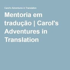 Mentoria em tradução